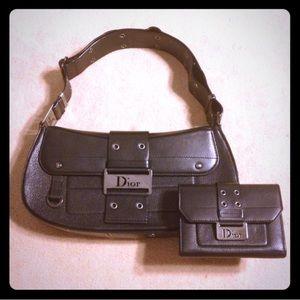 75519c363b1 Christian Dior Bags - CHRISTIAN DIOR BLACK LEATHER GUNMETAL HARDWARE BAG